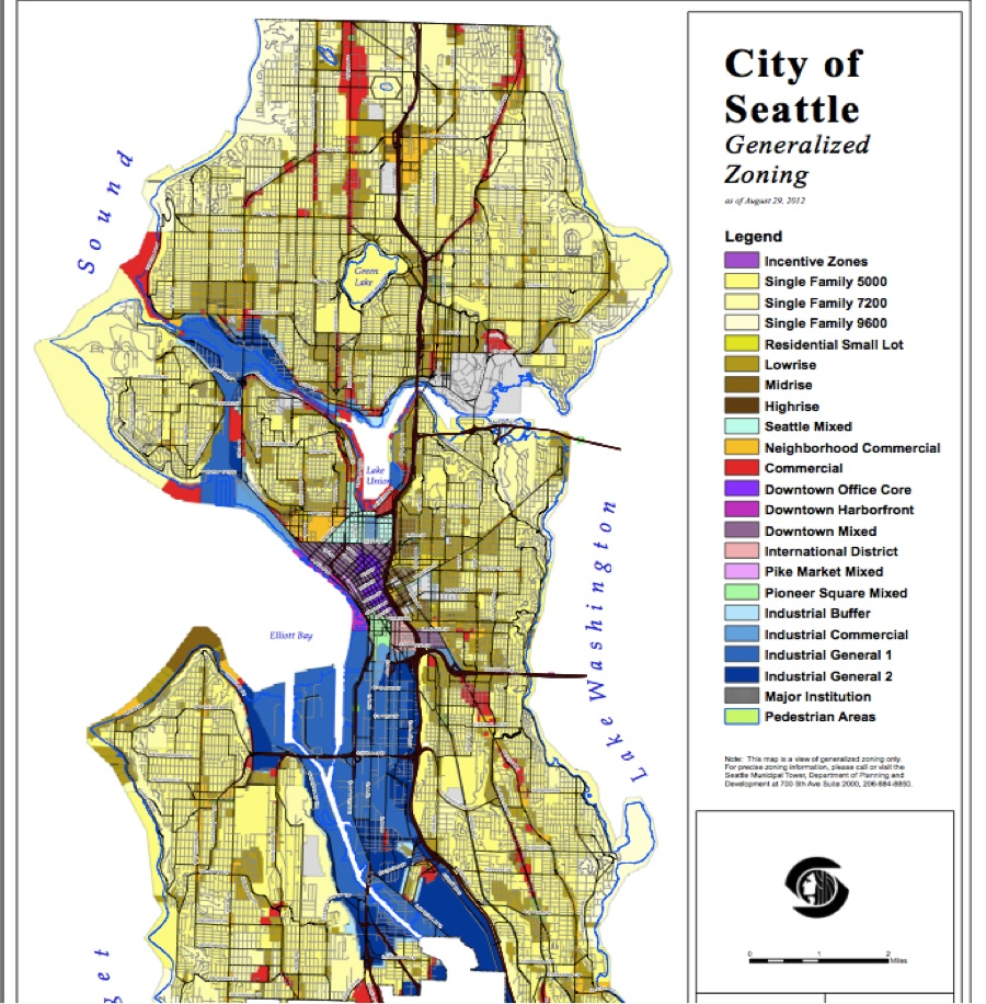 City Of Seattle Zoning Map Seattle as Open City: Upzone Single Family, End Exclusionary
